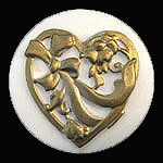 AstraMolds™ Soap Mold Heart with Bows 3.5oz