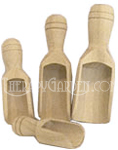 Wooden Bath Salt Scoops 2 tsp each