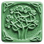 Milky Way Soap Mold Celtic Clover 3 Cavity