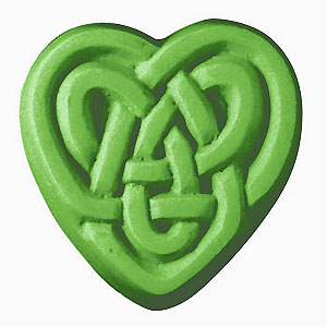 Milky Way Soap Mold Celtic Heart 3 Cavity