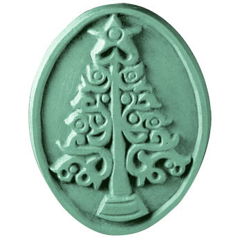 Milky Way Soap Mold Christmas Tree 3 Cavity