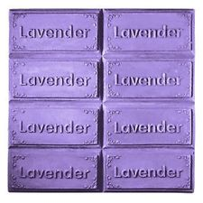 Milkyway Soap Mold Lavender 8-Bar Tray