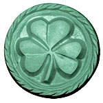 Milkyway Soap Mold Shamrock 3 Cavity