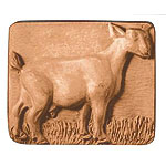Milky Way Soap Mold Standing Goat 3 Cavity