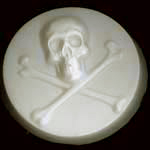 AstraMolds™ Soap Mold Skull and Cross Bones 3.5oz