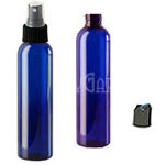 Cobalt PET Cosmo Bottle w/ cap 4oz