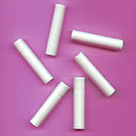 Lip Balm Tubes White w/ Cap .15oz