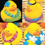 Hawaiian Luau Duckies Set 4
